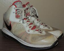 Nike Lebron 8 v2 Signature Shoes Mens White Red Black Air Max Basketball Size 13