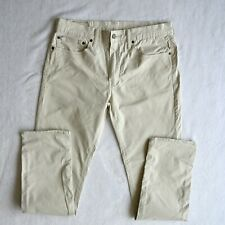 Mens LEVIS 511 Chino Trousers Slim Fit Tapered leg Zip fly Summer jeans W34 L34