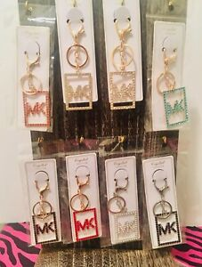 MK Square Medallion Bling'd out Keychain