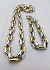 Stylish Silver Gold StainlessSteel Quality Set Necklace & Bracelet Unisex NEW 2