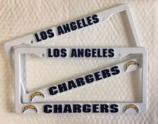2 LOS ANGELES CHARGERS License Plate Frame NEW Auto Truck FREE USA SHIPPING