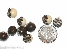 2 Pc Miniature dollhouse tiny Chocolate covered Valentines candy food charm New