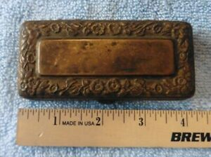 Antique Gillette Brass Safety razor in Vintage Ornate fancy travel box