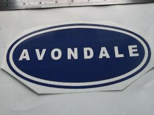 AVONDALE LARGE Vinyl Stickers large Caravan Camping  set x4