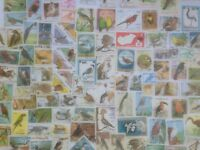300 Different Birds on Stamps Collection