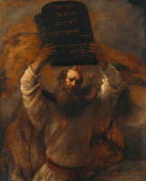 Rembrandt Moses with the Ten Commandments Poster Giclee Canvas Print