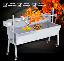 Brand New 46inch Stainless Steel BBQ Spit Roaster 110V Motor Max Capacity 90LB