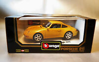 6463:BBurago,Diamonds, 1:18 Porsche Carrera 1993,gelb, in OVP. Nr. 3060.