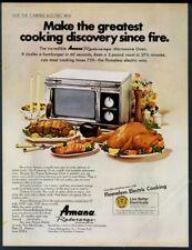 1969 Amana Radarange microwave oven photo vintage print ad