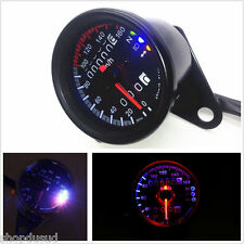 COMPTEUR KM/H Ø 66 MM NOIR RETRO VINTAGE CUSTOM CHOPPER BOBBER CAFE RACER BIKE