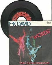 "F-R David, Words, G/VG  7"" Single 999-660"