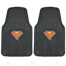 2pc Front Superman Gift Set Heavy Duty Rubber Floor Mats for CAR SUV