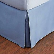 Hudson Park Collection King Bed Skirt Delft Blue 800 Tc