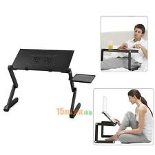 Adjustable Portable Folding Laptop Desk Table Stand Bed Tray For PC Notebook