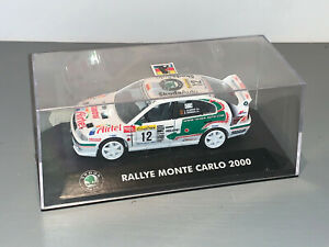 RALLY 1/43 KADEN SKODA AUTO OCTAVIA WRC AIRTEL MONTE CARLO 2000 LOUIS CLIMENT