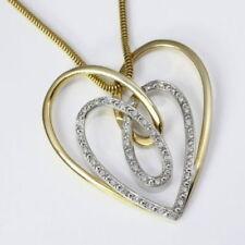 Liebe & Herzen natürliche Echtschmuck-Halsketten & -Anhänger aus Gelbgold