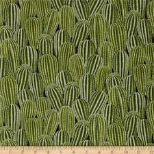 Timeless Treasures Packed Cactus Plant Green 100% cotton fabric by the yard