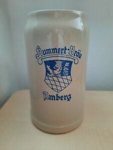 Bierkrug -KUMMERT-BRÄÜ-BAMBERG-1LITERSTEINMASSKRUG