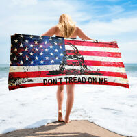 2nd Second Amendment Towel Beach Bath Pool Spa American Flag AR-15 Gun Rifle