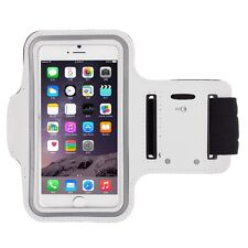 """iPhone 6 4.7"""" White Premium Sports Armband Cover Case Running Gym Workout"""