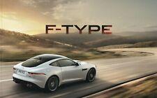 Jaguar F-Type Coupe/Convertible UK Brochure 2013-2014 3.0 V6/5.0 V8/R 98 Pages