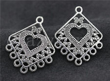 10/40/200pcs Tibetan Silver Exquisite square Jewelry Charms Connectors 31x25mm