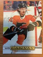 UPPER DECK 2019-2020 SERIES TWO TRAVIS KONECNY CANVAS HOCKEY CARD C-156