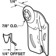 "2X Sliding Closet Wardrobe Door Front Roller N-6504 1/4"" Offset Nylon Wheel7/8"""