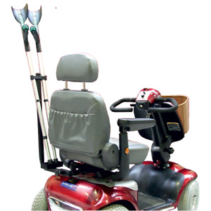 Mobility Scooter Crutch and Walking Stick Holder - Weatherproof & Universal Fit