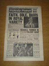 MELODY MAKER 1960 APRIL 30 ADAM FAITH NAT KING COLE SAMMY DAVIS ROYAL VARIETY +