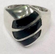 Sterling Silver Black Onyx Ring TC 31B Size 4