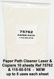 Paper Path Cleaner A4 Laser & Copiers 10 sheets Ref 75762 & 115-50-016 NEW