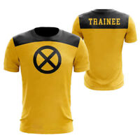 Deadpool 2 Herren T-Shirt Superheld Gelb Kurzarm Cosplay Sommer Tops Trainee  Oj