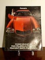 1970 Camaro Z28 RS GM Sales Dealership Brochure Original Nice Condition