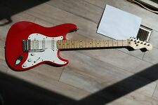 Squire Stratocaster by Fender 1992 Korean MIK Fiesta Red HSS