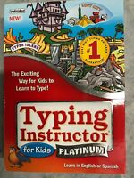 Typing Instructor For Kids Platinum On CD-ROM - Type Software - Fast Shipping