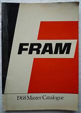 VINTAGE FRAM OIL FUEL AIR FILTER AND GASKET MASTER CATALOGUE 1968