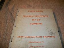 Original Massey Ferguson Mf 82 Combine Parts Book Manual