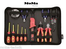BOXO VDE Werkzeugsatz 12 tlg Profi 1000V Abisolierzange Kabelschere NEU BXI-012