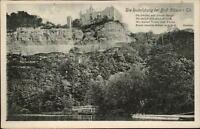 Rudelsburg bei Bad Kösen Thüringen ~1920/25 alte AK Deteco-Verlag Leipzig Nr. 30