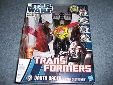 NIB Star Wars Transformers DARTH VADER To Star Destroyer ANAKIN To Jedi Cruiser