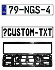 New Netherlands EEC European Front License Plate(Custom) & Mounting Frame