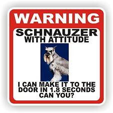 SCHNAUZER DOOR  WARNING DECAL / STICKER PET DOG