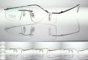 BETA Titanium Rimless Frames BIFOCALS Photo-Gray TRANSITIONS Reading Glasses