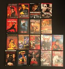 18 DVD Lot - Martial Arts Themed - Jackie Chan - Jet Li - Crouching Tiger UFC
