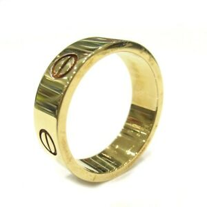 Cartier ring Yellow gold Love ring 57 US size 8.5 Auth #072501