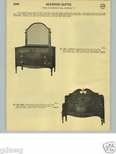 1932 PAPER AD 8 PG Landstrom Corp Rockford Ill Bedroom Furniture Dresser Bed ++