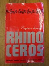 Rhinocéros,Eugene Ionesco,1st Edición Fr / Pb , Editado: R.Ellison & S. C.