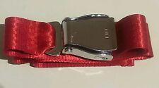 Chrome RED Airliner Seat Belt Buckle Adjustable 110cm Fashion aeroplane gift