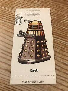 Dr Who 1975 Weetabix (Still sealed) BBC - Mint